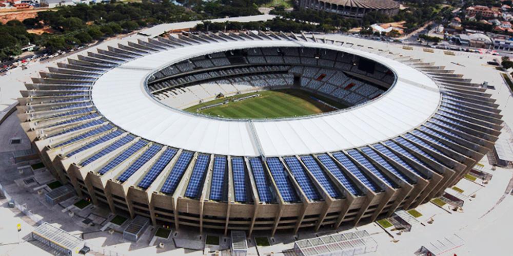 O primeiro estádio a sediar uma copa do mundo a energia solar